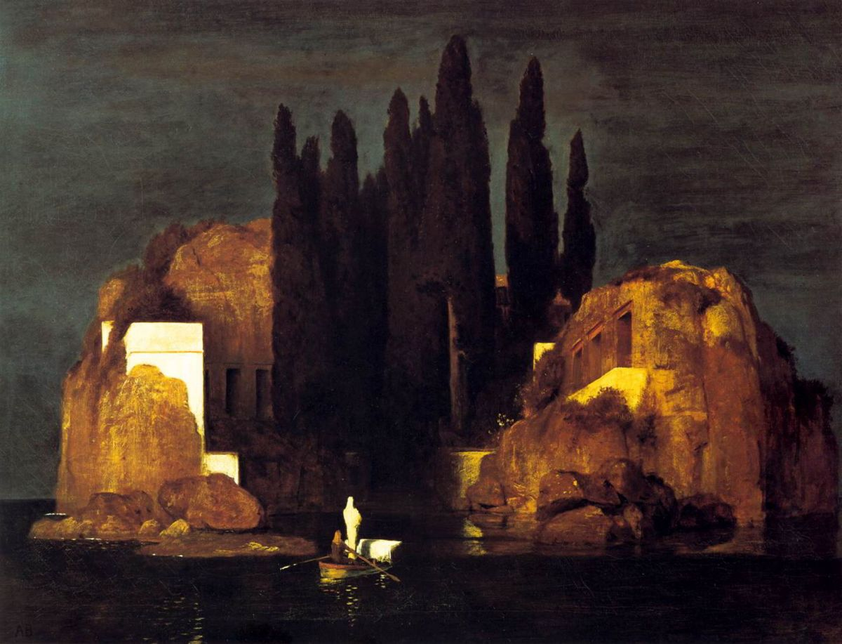 Isle of the Dead - Version I by Arnold Bocklin