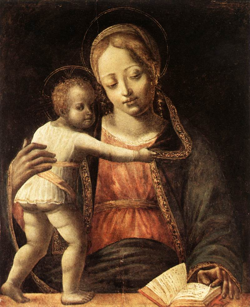 Madonna and Child by Bernardino Jacopi Butinone