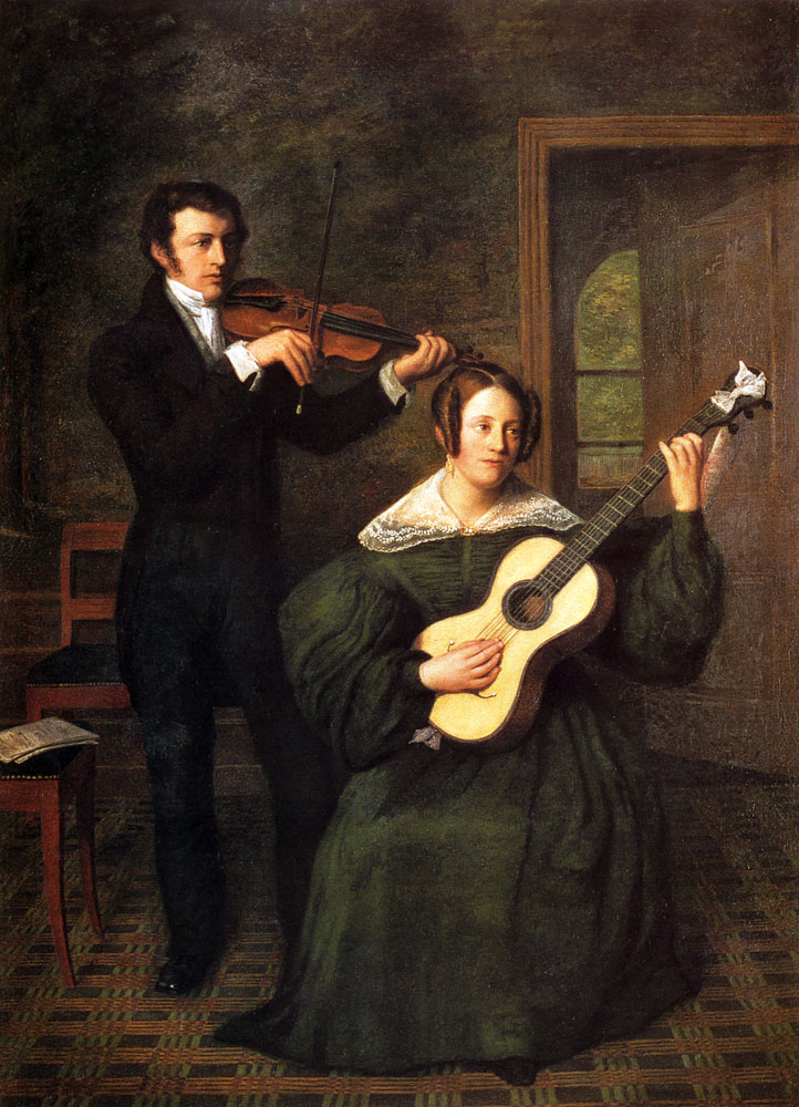 The Duet by Cornelis Bernardus Buijs-Portrait Painting