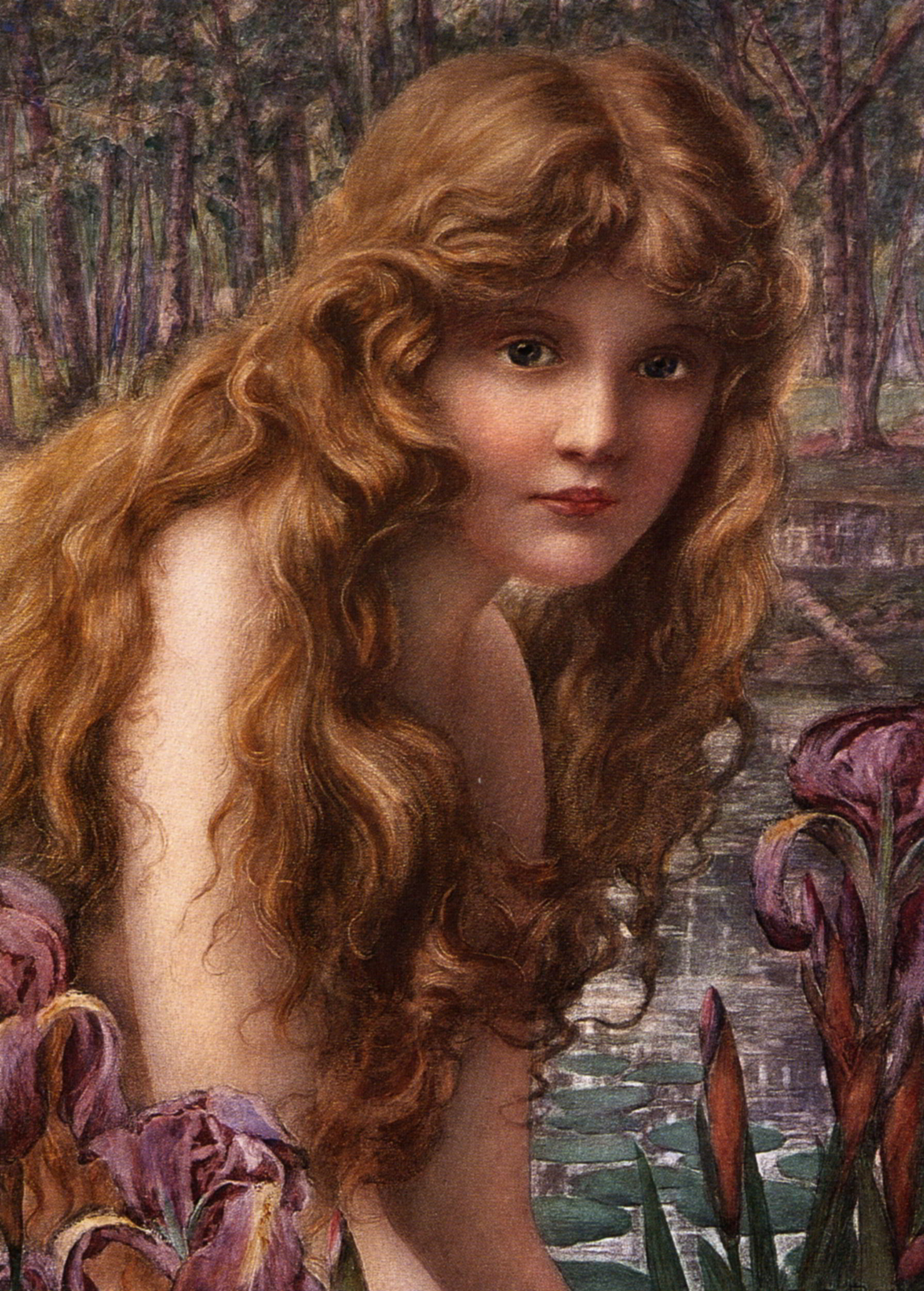 Herny Ryland (1856-1924), The water nymph [http://artpaintingartist.org]