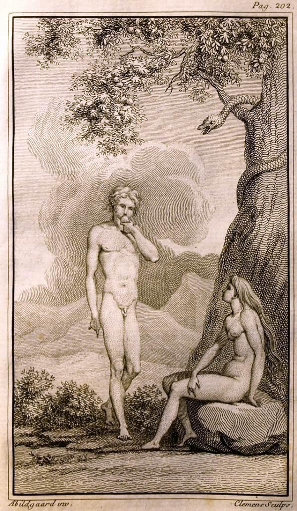 Adam and Eve by Nicolai Abildgaard