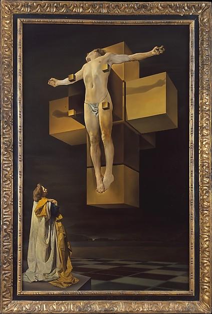 Cruxifixion (Hypercubic Body) by Salvador Dali