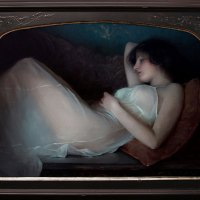 Reclining in White by Jeremy Lipking