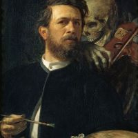 Self Portrait with Death by Arnold Bocklin