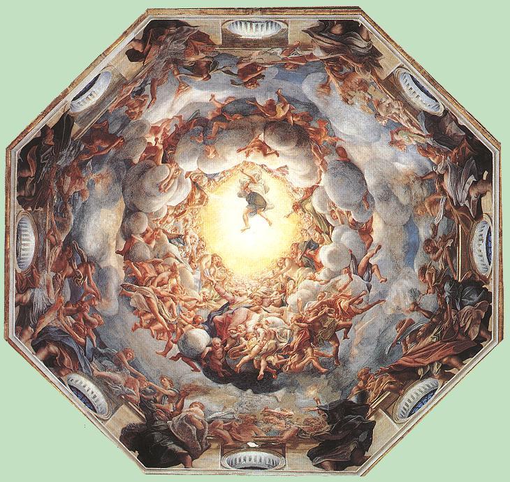 Assumption of the Virgin by Antonio da Correggio-History Painting