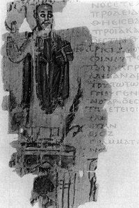 5th century scroll illustrating the destruction of serapeum by king Theophilus