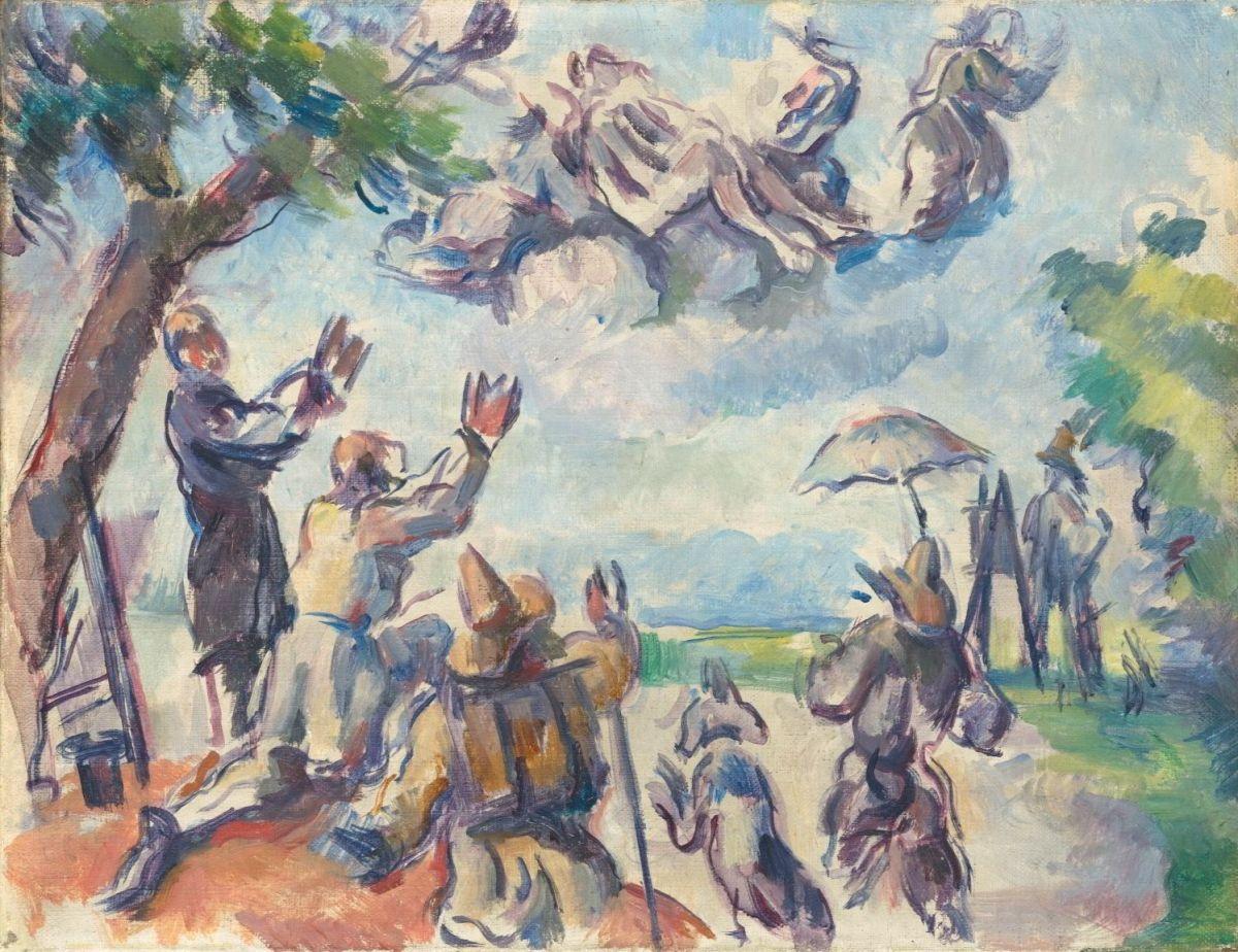Apothéose de Delacroix by Paul Cézanne