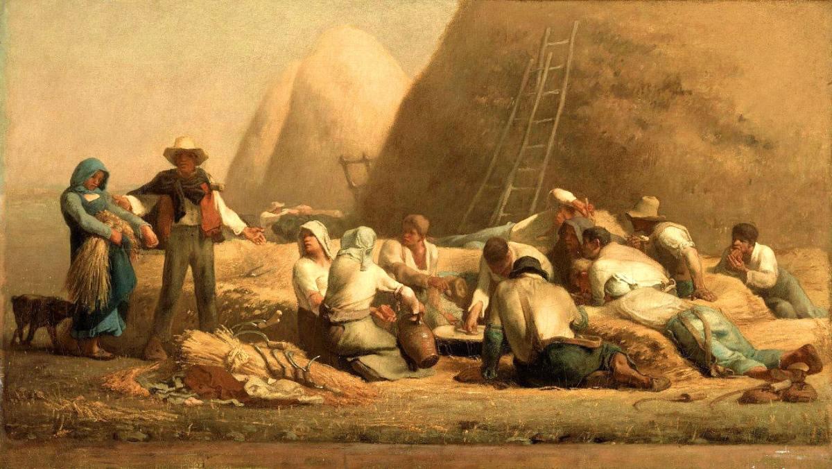 Harvesters Resting by Jean Francois Millet