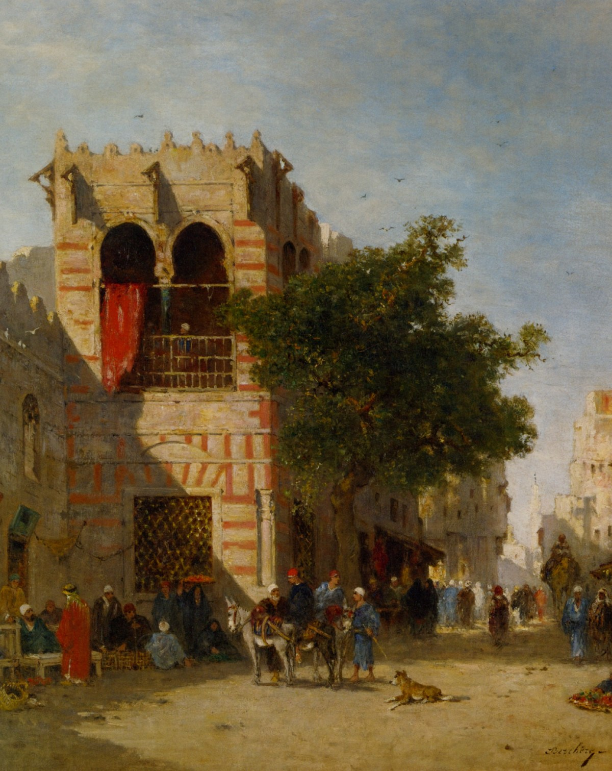 A Busy Street ­Cairo by Narcisse Berchere