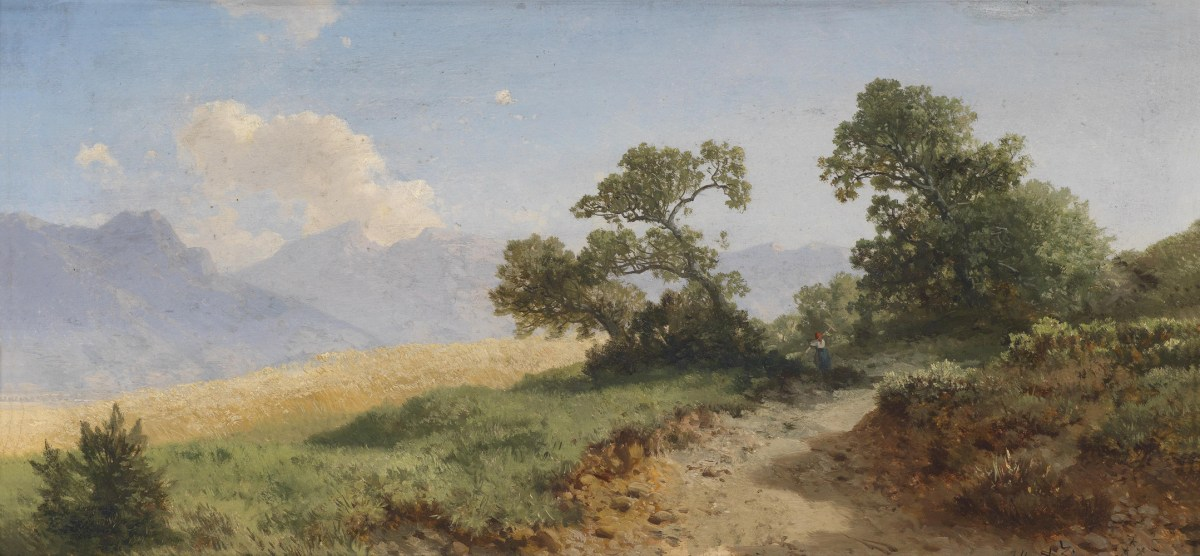 A landscape by Albert Zimmermann