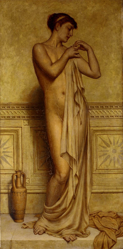 Before the bath by Arthur Hill-Portrait Painting