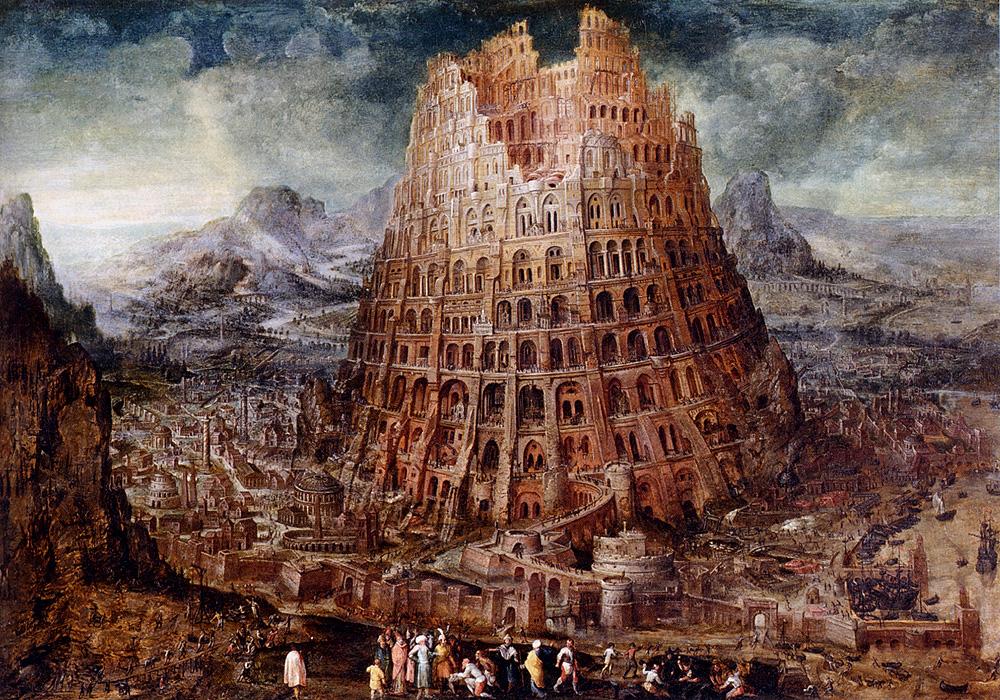 Tower Of Babel by Marten Van Valckenborch I