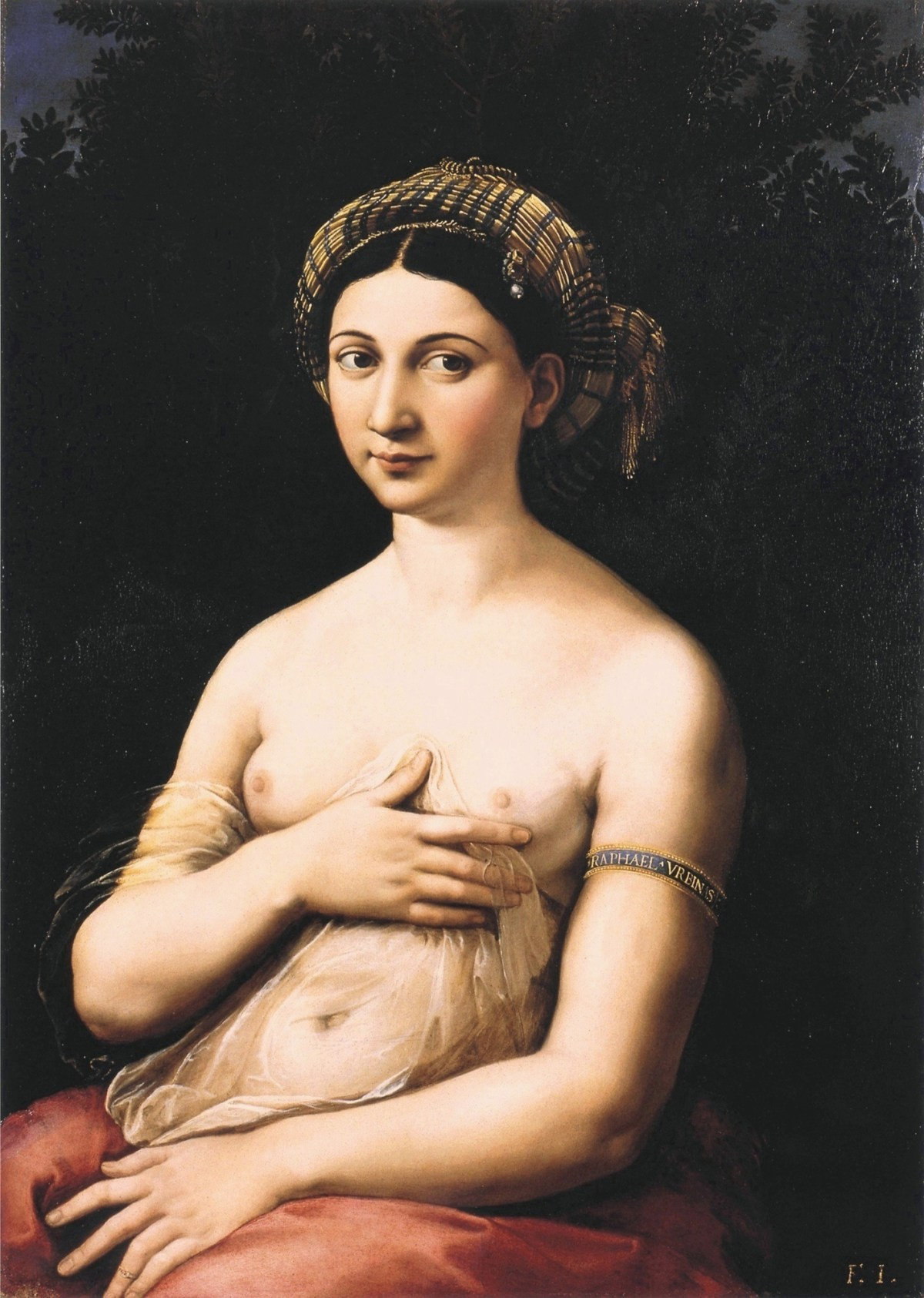 La fornarina AKA Portrait of a Young Woman - Raphael's Mistress Painting