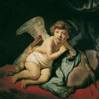 Cupid Blowing Soap Bubbles by Rembrandt van Rijn