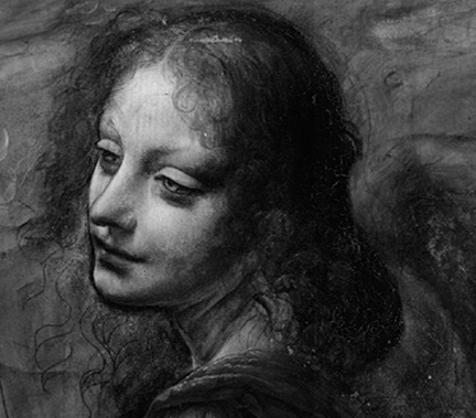 Underdrawing revealed by infrared technology in Virgin of the rocks