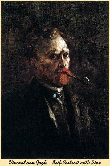 Self Portrait with Pipe Vincent van Gogh