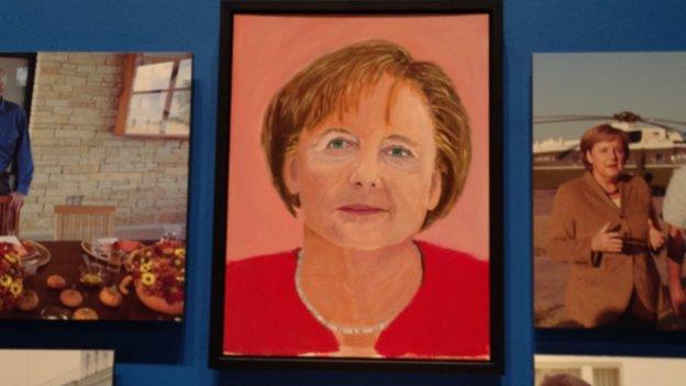 Angela Merkel by George W. Bush