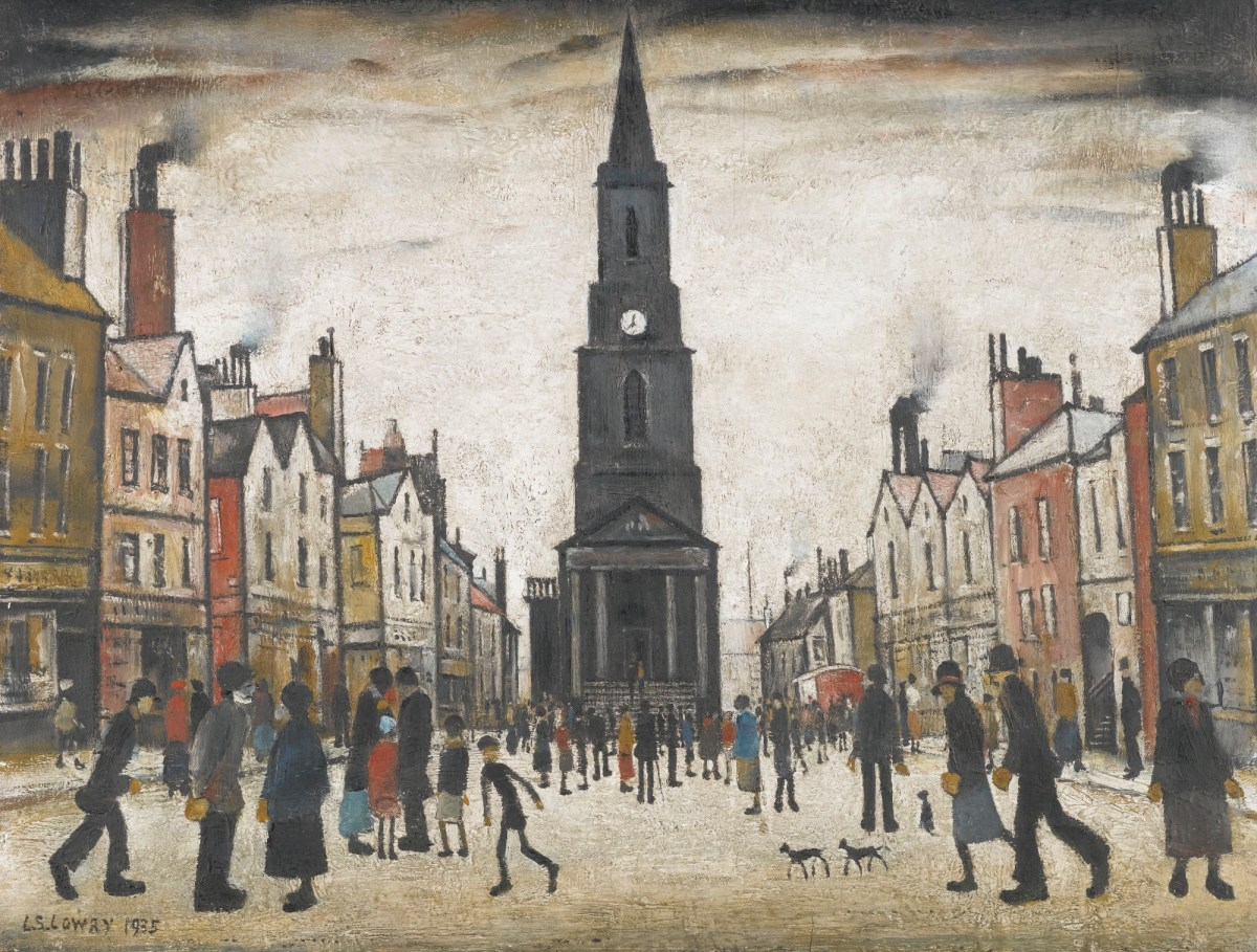 A Market Place, Berwick-upon-Tweed by Laurence Stephen Lowry