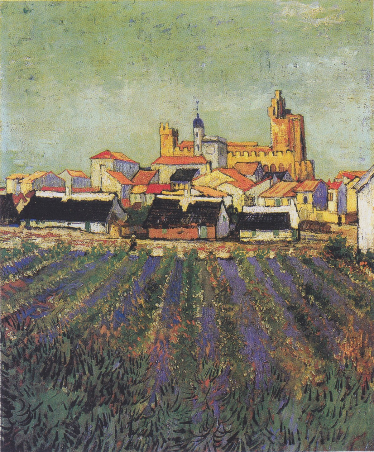 View of Saintes-Maries by Vincent van Gogh-Oil Painting
