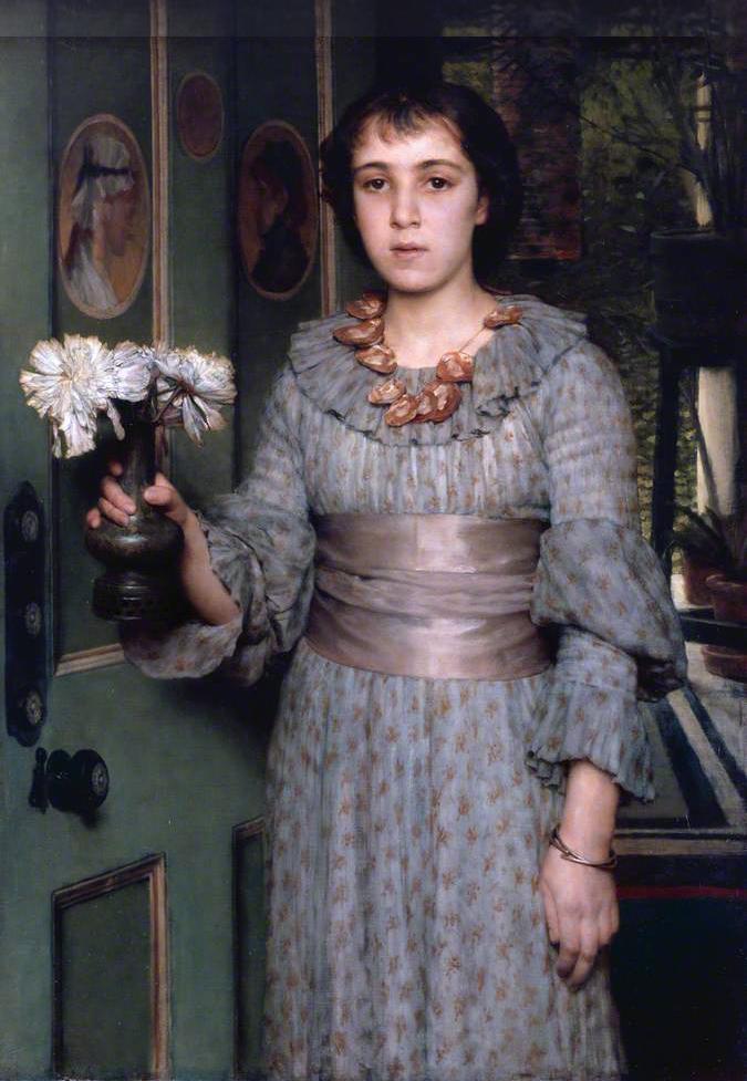 Miss Anna Alma Tadema, by Laurens Alma Tadema