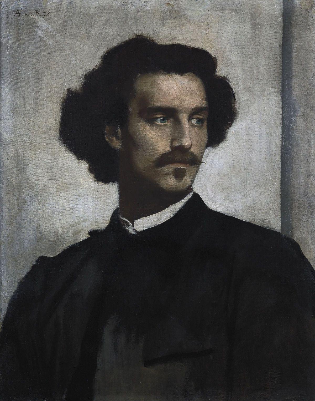 Self-portrait by Anselm Friedrich Feuerbach-Portrait Painting