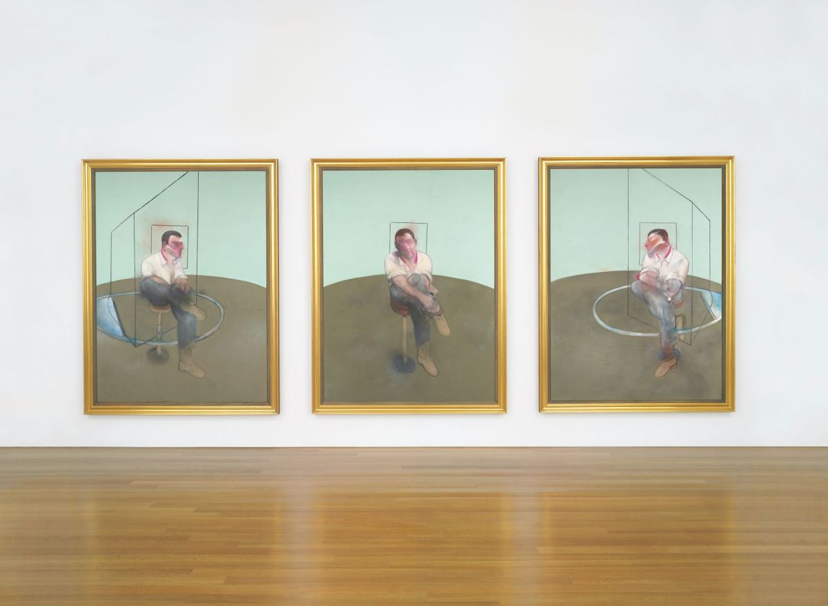 Three Studies for a Portrait of John Edwards by Francis Bacon