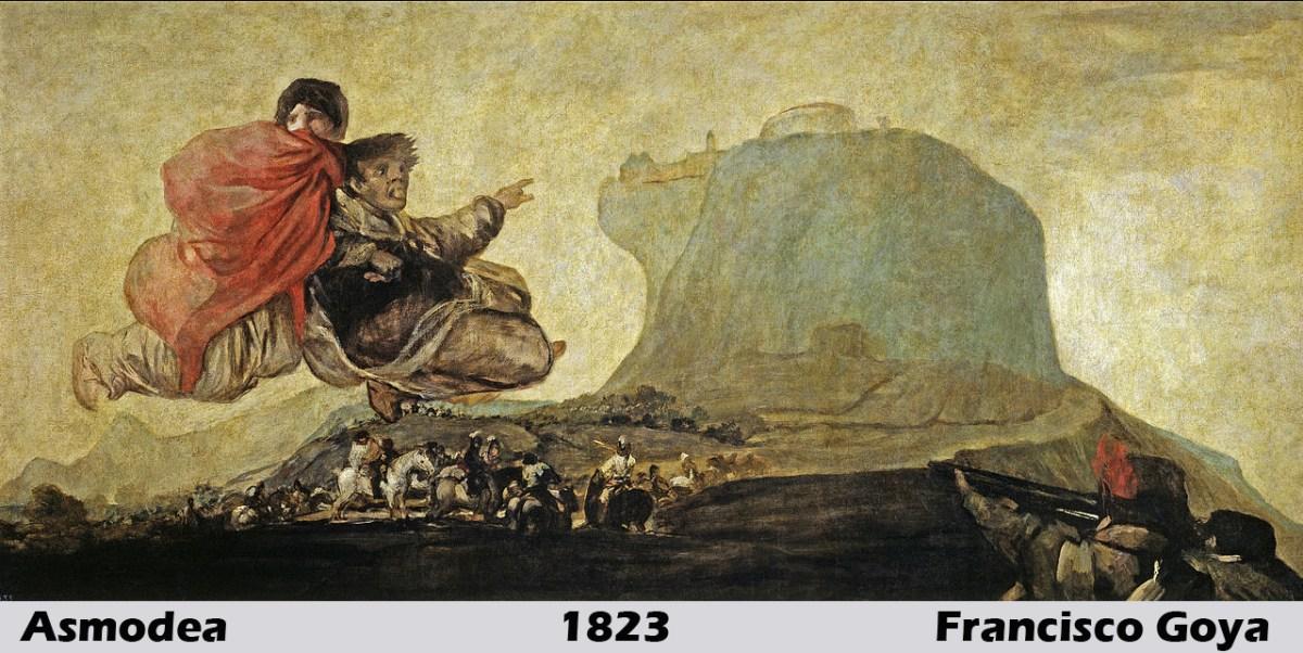 Asmodea by Francisco Goya