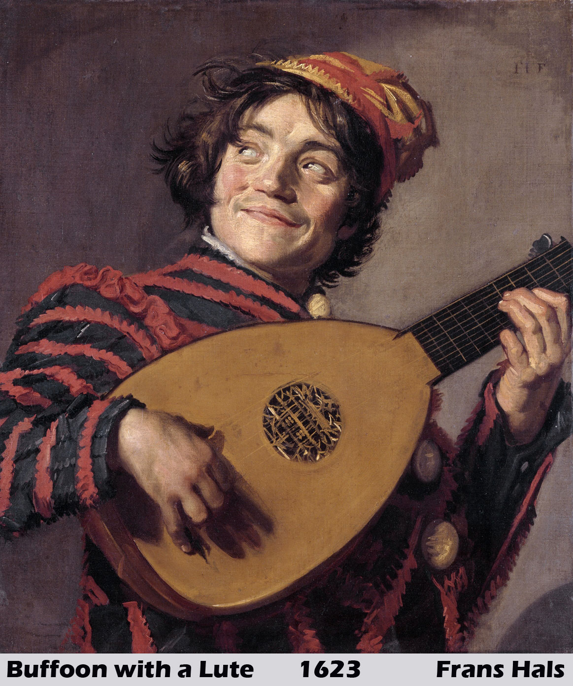 Buffoon with a Lute by Frans Hals