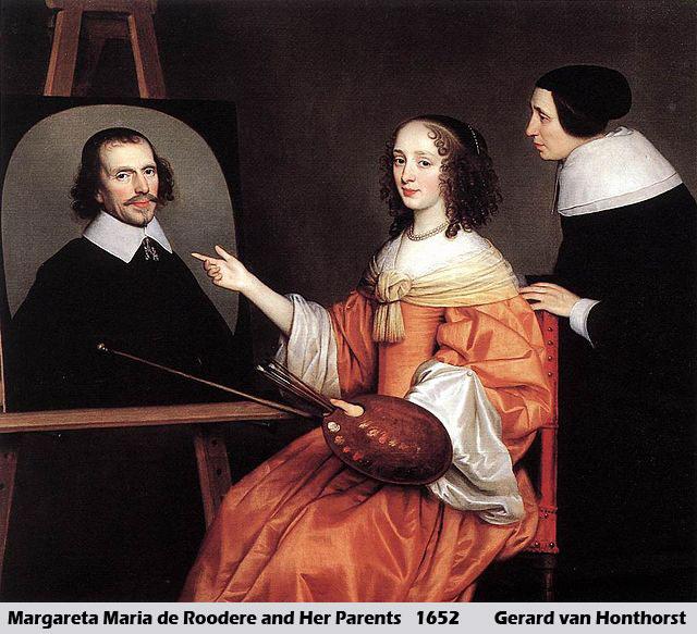 Margareta Maria de Roodere and Her Parents by Gerrit van Honthorst