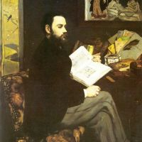 Portrait of Émile Zola by Édouard Manet