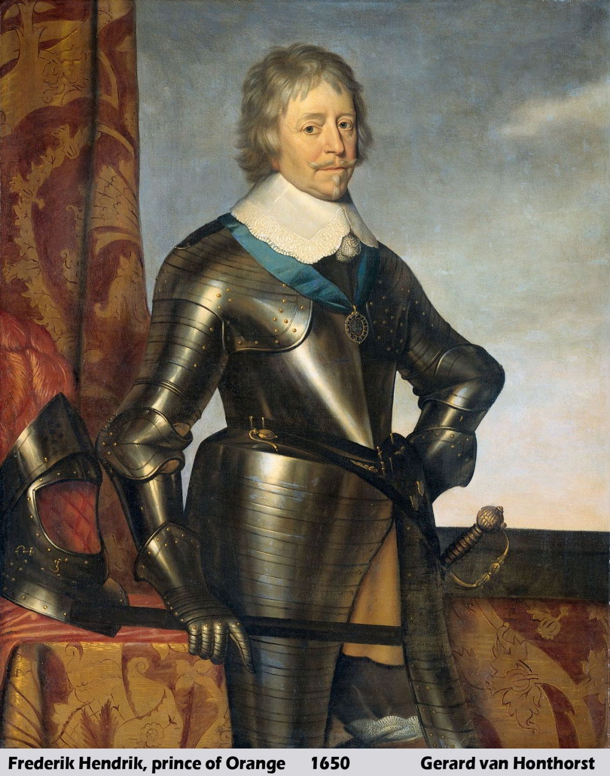 Portret van Frederik Hendrik 1584-1647 Prins van Oranje by Gerrit van Honthorst