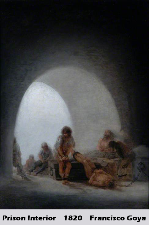 Prison Interior by Francisco Goya