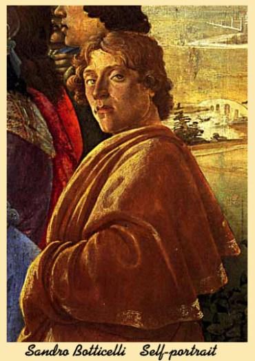 Sandro Botticelli self portrait