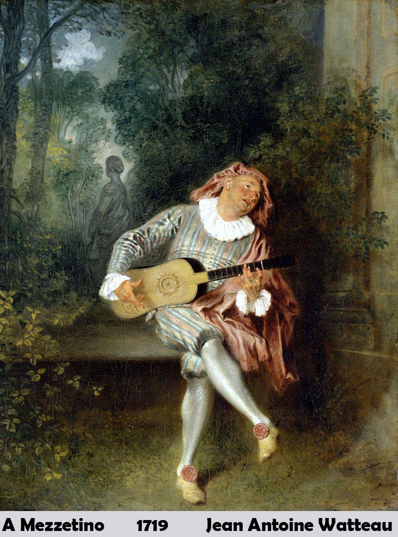 A Mezzetino by Jean Antoine Watteau