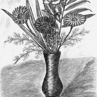 Flowers with Vase by Ingrid Jopp