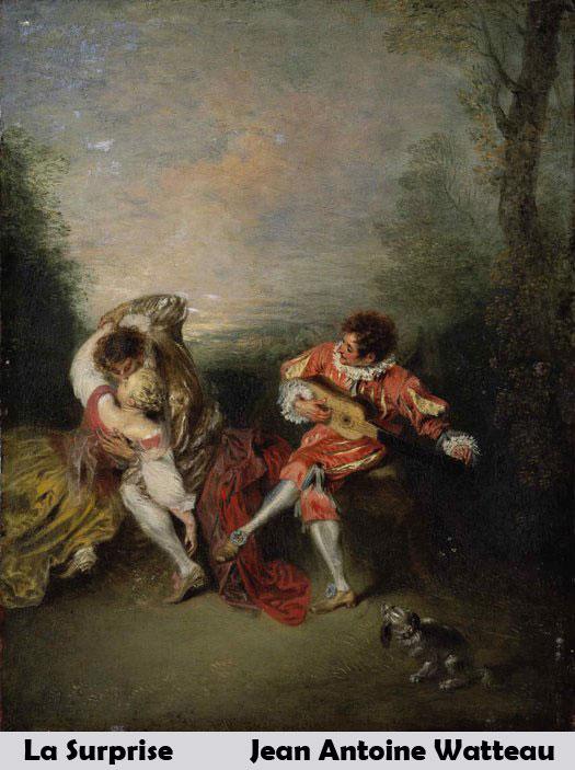 La Surprise by Jean Antoine Watteau