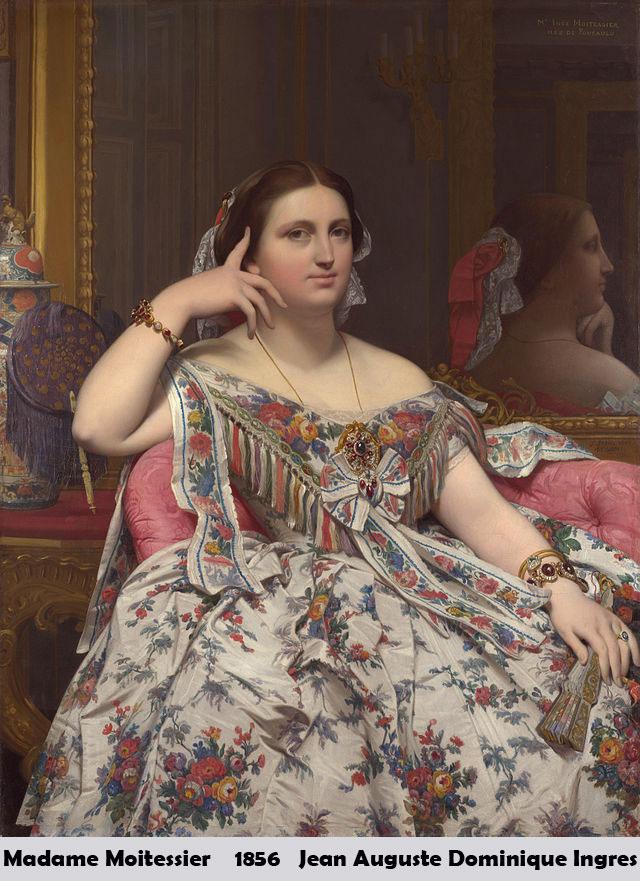 Madame Moitessier by Jean Auguste Dominique Ingres-Portrait Painting