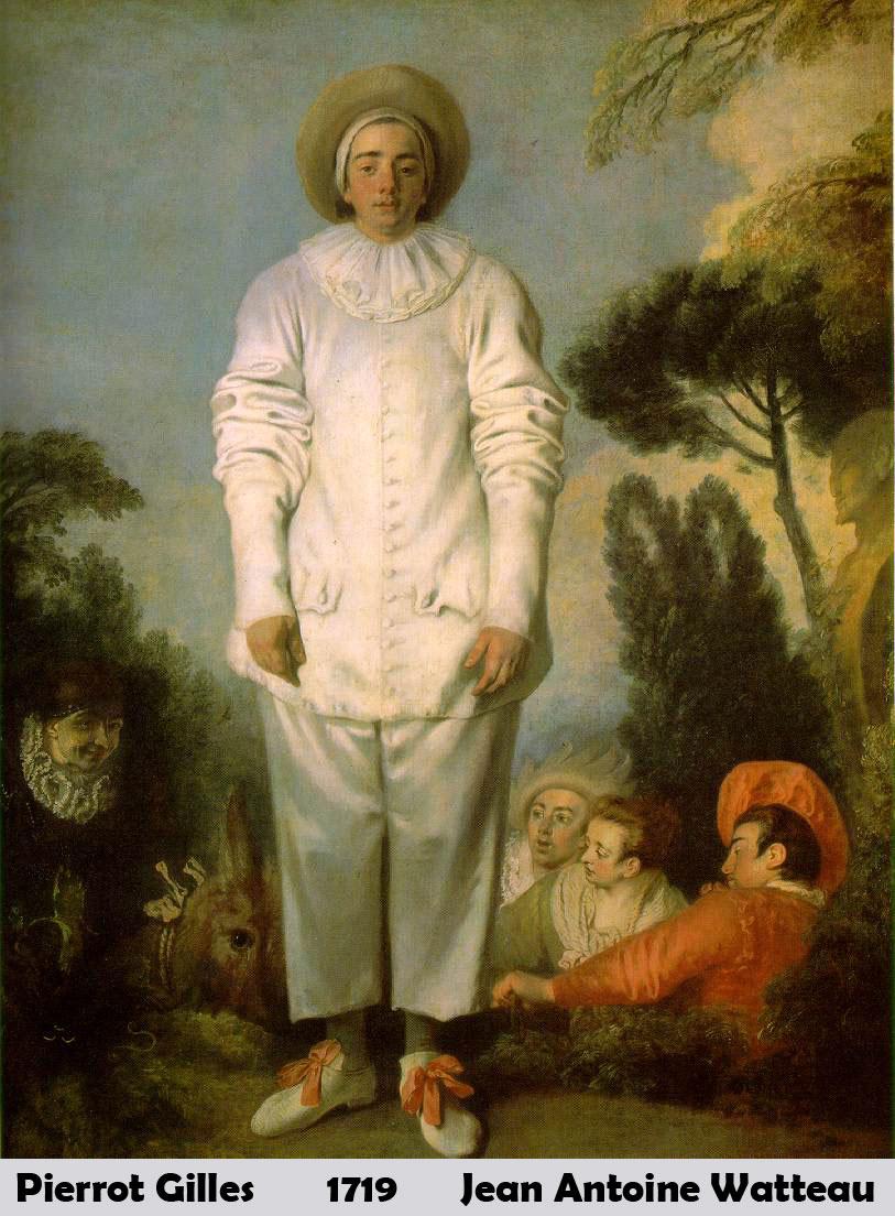 Pierrot Gilles by Jean Antoine Watteau