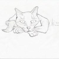 Reclining Cat by Nico Paloceropalo