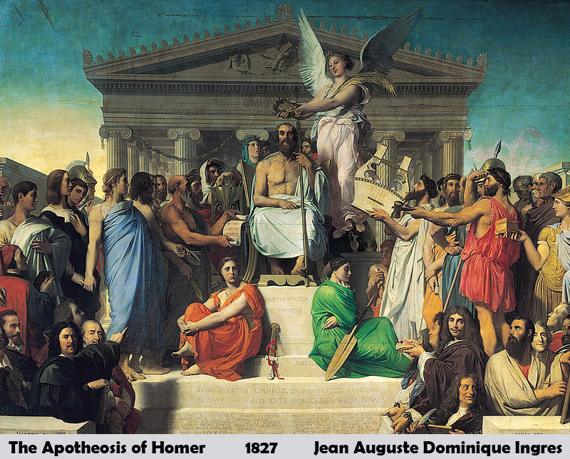The Apotheosis of Homer by Jean Auguste Dominique Ingres-Famous Painting