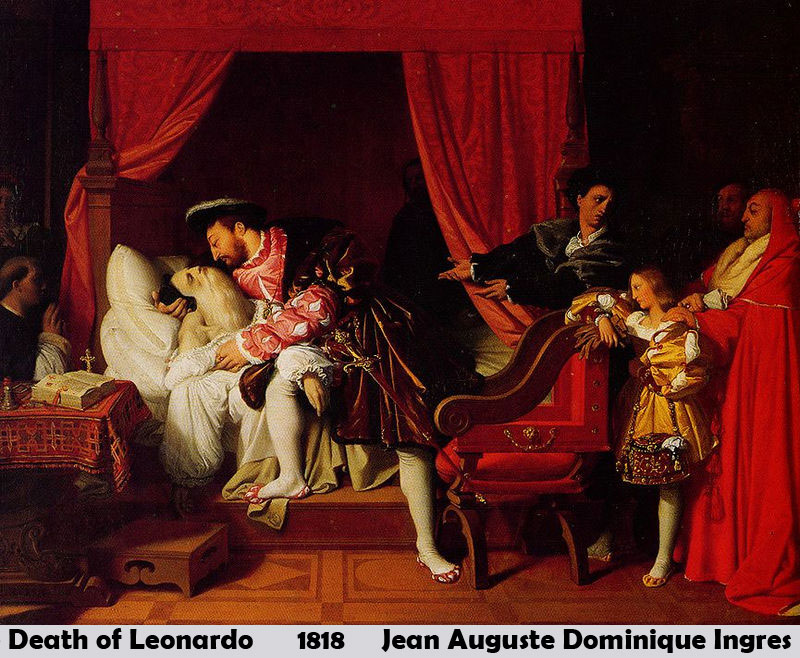 The Death of Leonardo by Jean Auguste Dominique Ingres-Oil Painting