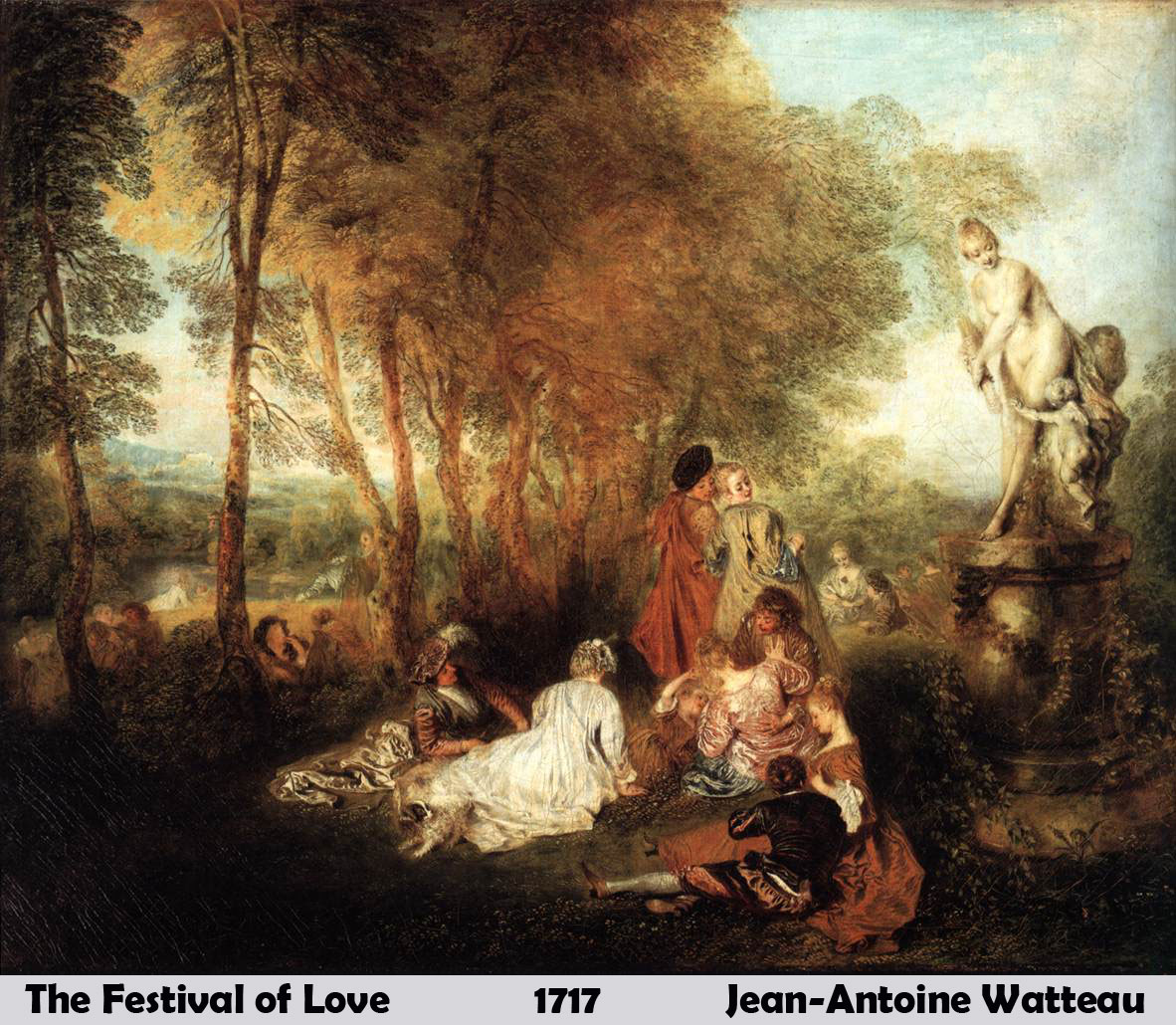 The Festival of Love by Jean Antoine Watteau
