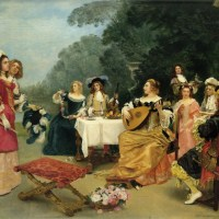 The Recital by Gustave Jean Jacquet