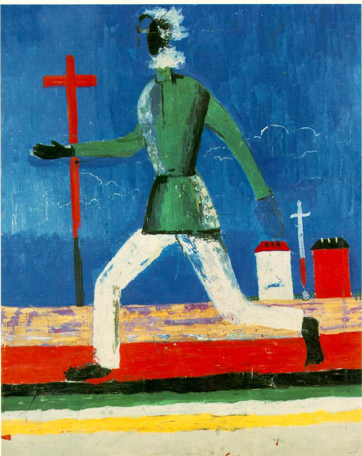 The Running Man by Kazimir Malevich