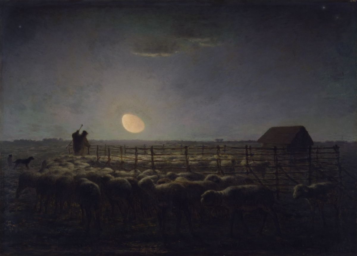 The Sheepfold by Jean Francois Millet