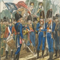 Members of the City Troop and Other Philadelphia Soldiery by John Lewis Krimmel
