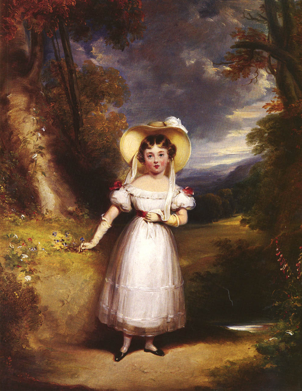 Princess Victoria, Aged Nine, In A Landscape by Stephen Catterson Smith