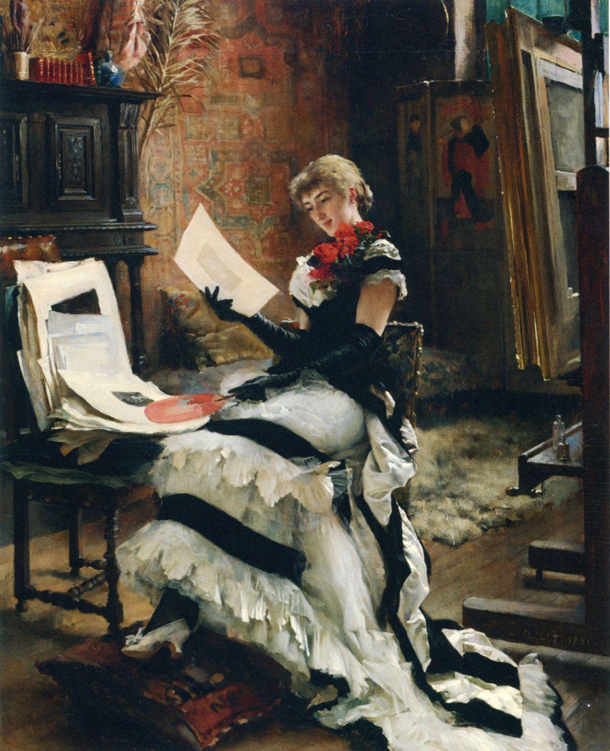 Chez LArtiste Les Gravures by Albert Edelfelt