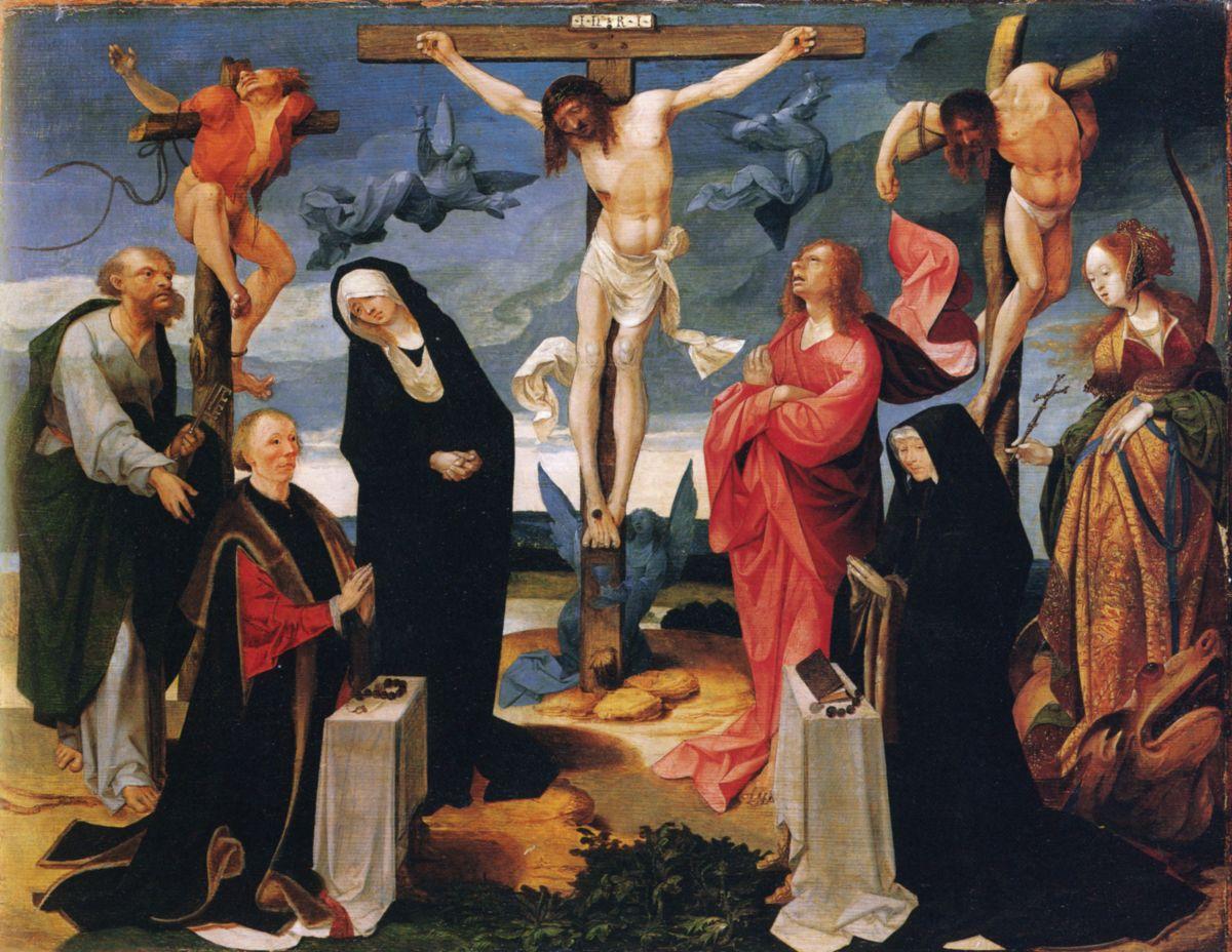 Crucifixion by Cornelius Engebrechtsz