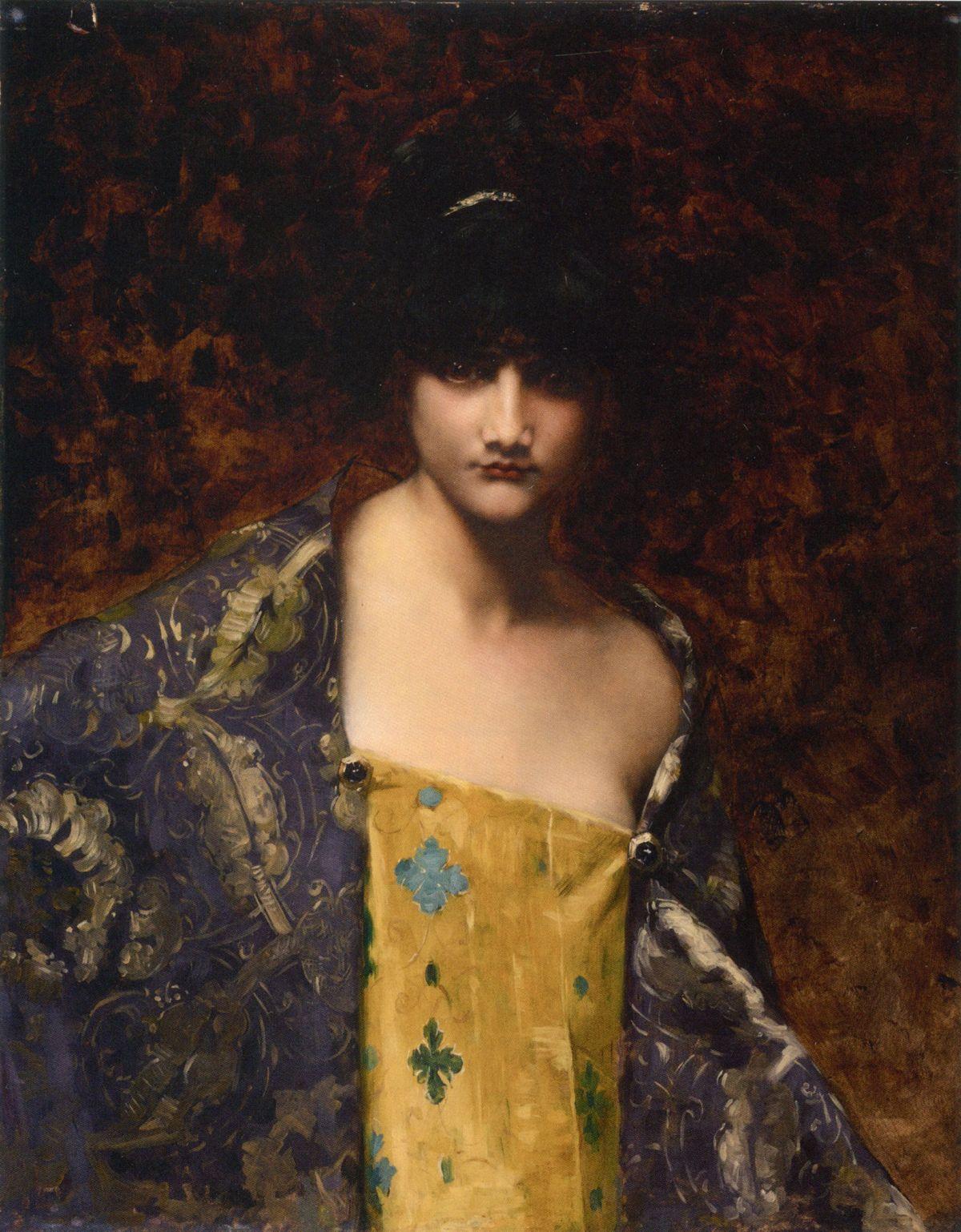 Dark Haired Beauty by Juana Romani